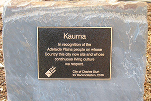 Kaurna Acknowledgement, Trees of Peace Malone & Telfer